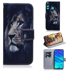 Lion Face PU Leather Wallet Case for Huawei Honor 20 Lite