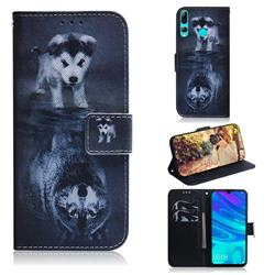 Wolf and Dog PU Leather Wallet Case for Huawei Honor 20 Lite