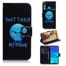 Not Touch My Phone PU Leather Wallet Case for Huawei Honor 20 Lite