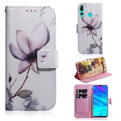 Magnolia Flower PU Leather Wallet Case for Huawei Honor 20 Lite