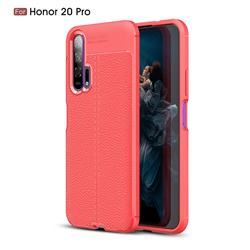 Luxury Auto Focus Litchi Texture Silicone TPU Back Cover for Huawei Honor 20 Pro - Red