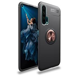 Auto Focus Invisible Ring Holder Soft Phone Case for Huawei Honor 20 Pro - Black Gold