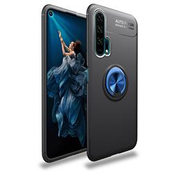 Auto Focus Invisible Ring Holder Soft Phone Case for Huawei Honor 20 Pro - Black Blue