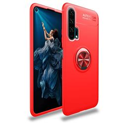 Auto Focus Invisible Ring Holder Soft Phone Case for Huawei Honor 20 Pro - Red