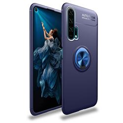 Auto Focus Invisible Ring Holder Soft Phone Case for Huawei Honor 20 Pro - Blue