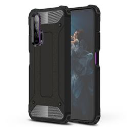 King Kong Armor Premium Shockproof Dual Layer Rugged Hard Cover for Huawei Honor 20 Pro - Black Gold