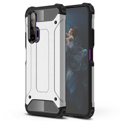 King Kong Armor Premium Shockproof Dual Layer Rugged Hard Cover for Huawei Honor 20 Pro - White