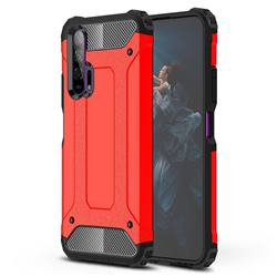 King Kong Armor Premium Shockproof Dual Layer Rugged Hard Cover for Huawei Honor 20 Pro - Big Red
