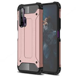 King Kong Armor Premium Shockproof Dual Layer Rugged Hard Cover for Huawei Honor 20 Pro - Rose Gold