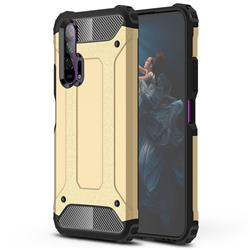 King Kong Armor Premium Shockproof Dual Layer Rugged Hard Cover for Huawei Honor 20 Pro - Champagne Gold