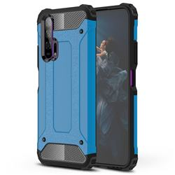 King Kong Armor Premium Shockproof Dual Layer Rugged Hard Cover for Huawei Honor 20 Pro - Sky Blue