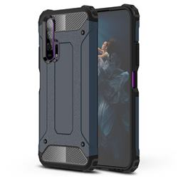 King Kong Armor Premium Shockproof Dual Layer Rugged Hard Cover for Huawei Honor 20 Pro - Navy
