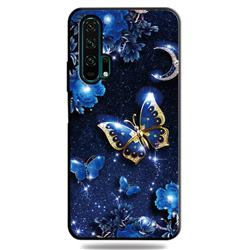 Phnom Penh Butterfly 3D Embossed Relief Black TPU Cell Phone Back Cover for Huawei Honor 20 Pro