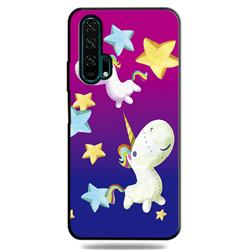 Pony 3D Embossed Relief Black TPU Cell Phone Back Cover for Huawei Honor 20 Pro