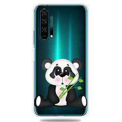 Bamboo Panda Clear Varnish Soft Phone Back Cover for Huawei Honor 20 Pro