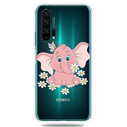 Tiny Pink Elephant Clear Varnish Soft Phone Back Cover for Huawei Honor 20 Pro