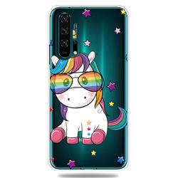 Glasses Unicorn Clear Varnish Soft Phone Back Cover for Huawei Honor 20 Pro