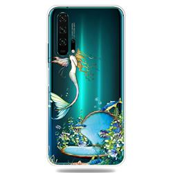 Mermaid Clear Varnish Soft Phone Back Cover for Huawei Honor 20 Pro
