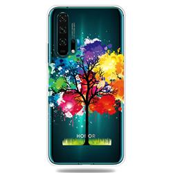 Oil Painting Tree Clear Varnish Soft Phone Back Cover for Huawei Honor 20 Pro