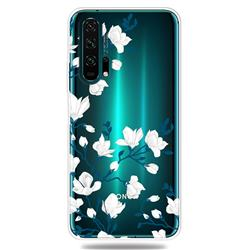 Magnolia Flower Clear Varnish Soft Phone Back Cover for Huawei Honor 20 Pro