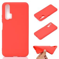 Candy Soft TPU Back Cover for Huawei Honor 20 Pro - Red