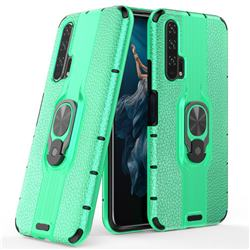 Alita Battle Angel Armor Metal Ring Grip Shockproof Dual Layer Rugged Hard Cover for Huawei Honor 20 Pro - Green
