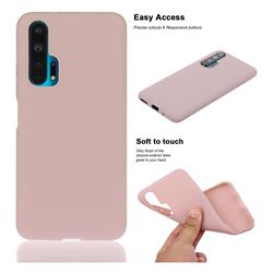 Soft Matte Silicone Phone Cover for Huawei Honor 20 Pro - Lotus Color