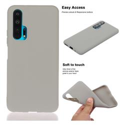 Soft Matte Silicone Phone Cover for Huawei Honor 20 Pro - Gray