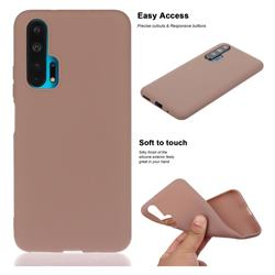 Soft Matte Silicone Phone Cover for Huawei Honor 20 Pro - Khaki