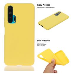 Soft Matte Silicone Phone Cover for Huawei Honor 20 Pro - Yellow