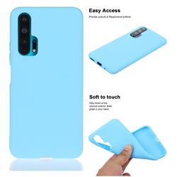 Soft Matte Silicone Phone Cover for Huawei Honor 20 Pro - Sky Blue
