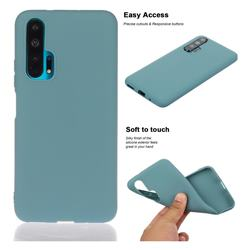 Soft Matte Silicone Phone Cover for Huawei Honor 20 Pro - Lake Blue