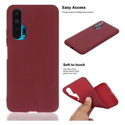 Soft Matte Silicone Phone Cover for Huawei Honor 20 Pro - Wine Red