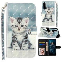 Kitten Cat 3D Leather Phone Holster Wallet Case for Huawei Honor 20 Pro