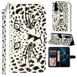 Leopard Panther 3D Leather Phone Holster Wallet Case for Huawei Honor 20 Pro