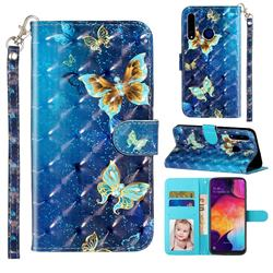 Rankine Butterfly 3D Leather Phone Holster Wallet Case for Huawei Honor 20i