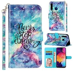 Blue Starry Sky 3D Leather Phone Holster Wallet Case for Huawei Honor 20i