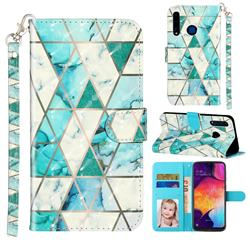 Stitching Marble 3D Leather Phone Holster Wallet Case for Huawei Honor 20i