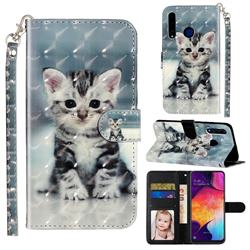 Kitten Cat 3D Leather Phone Holster Wallet Case for Huawei Honor 20i