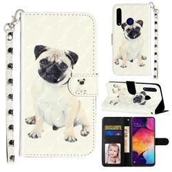 Pug Dog 3D Leather Phone Holster Wallet Case for Huawei Honor 20i