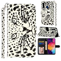 Leopard Panther 3D Leather Phone Holster Wallet Case for Huawei Honor 20i