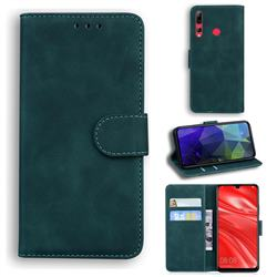 Retro Classic Skin Feel Leather Wallet Phone Case for Huawei Honor 20i - Green