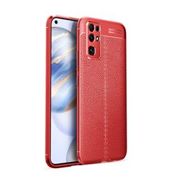 Luxury Auto Focus Litchi Texture Silicone TPU Back Cover for Huawei Honor 30 - Red