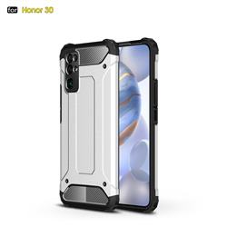 King Kong Armor Premium Shockproof Dual Layer Rugged Hard Cover for Huawei Honor 30 - White