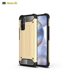 King Kong Armor Premium Shockproof Dual Layer Rugged Hard Cover for Huawei Honor 30 - Champagne Gold