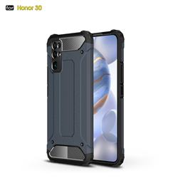 King Kong Armor Premium Shockproof Dual Layer Rugged Hard Cover for Huawei Honor 30 - Navy