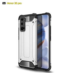 King Kong Armor Premium Shockproof Dual Layer Rugged Hard Cover for Huawei Honor 30 Pro - White