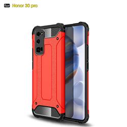 King Kong Armor Premium Shockproof Dual Layer Rugged Hard Cover for Huawei Honor 30 Pro - Big Red