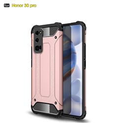 King Kong Armor Premium Shockproof Dual Layer Rugged Hard Cover for Huawei Honor 30 Pro - Rose Gold