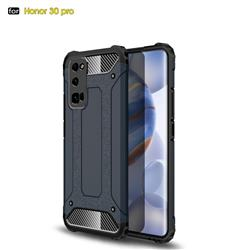 King Kong Armor Premium Shockproof Dual Layer Rugged Hard Cover for Huawei Honor 30 Pro - Navy